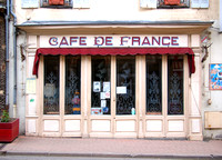 French Café in Nolay, France