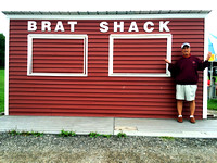 WHAT??!!  The Brat Shack was closed.