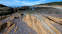 Rock formations at Weston Beach, Point Lobos