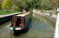 Kennet and Avon Canal on the aqueduct